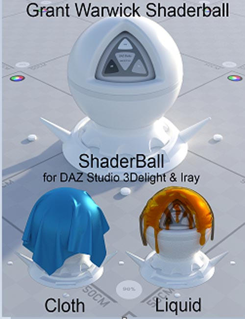 Grant warwick shaderball [ 3delight and iray ]