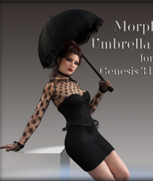 Morphing Umbrella and Poses for G3F