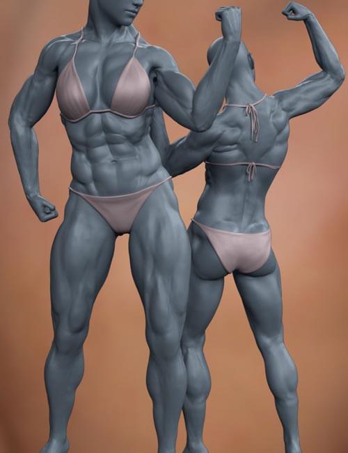 Musculature HD Morphs for Genesis 8 Female
