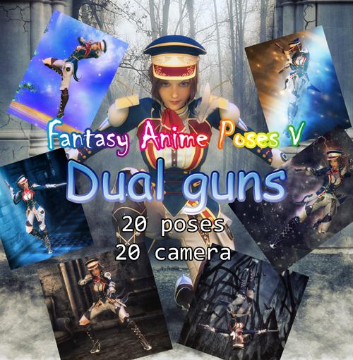 Fantasy Anime Poses V _ Dual guns_ for G3