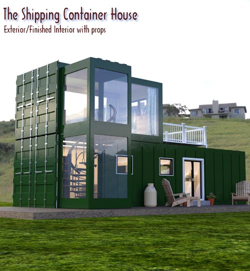 The Shipping Container House for DAZ Studio