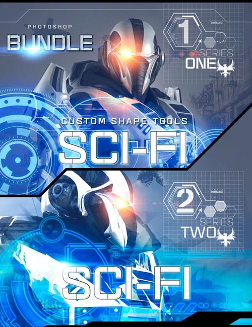 Ron's Sci-Fi Custom Shapes Bundle
