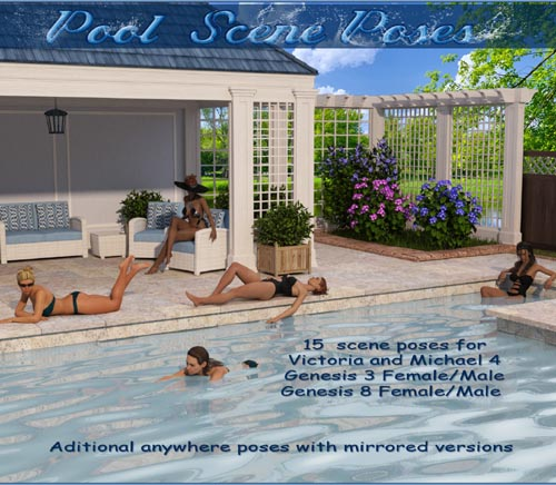 Pool Scene Poses - V4,M4-G3 and G8
