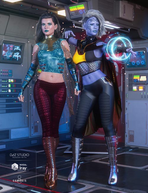 dForce Stargazer Outfit Textures