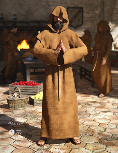 dForce Monk for Genesis 8 Male(s)