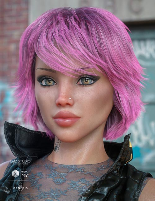 Textured Bob Hair for Genesis 8 and 3 Female(s)