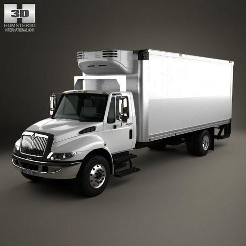 International Durastar Box Truck 2002 3D model
