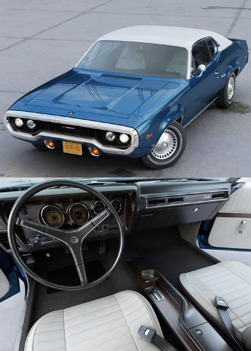 Plymouth Satellite 1971 3D Model Automobile