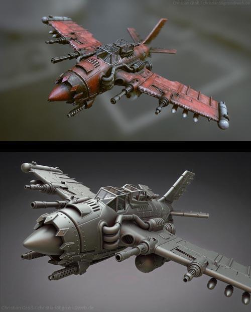 Warhammer 40K Orks Jet / Bommer - Realtime