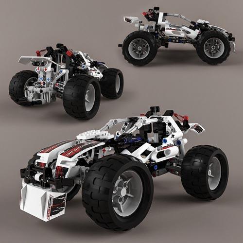 Lego Technic Quad-Bike Alternative Model 3D model