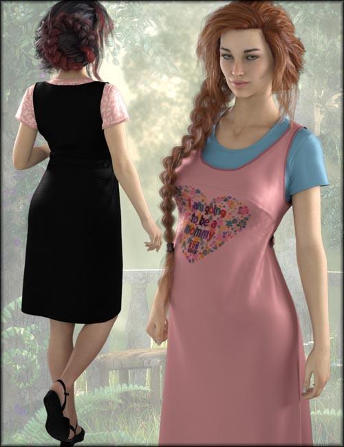 dForce Maternity Dress Textures