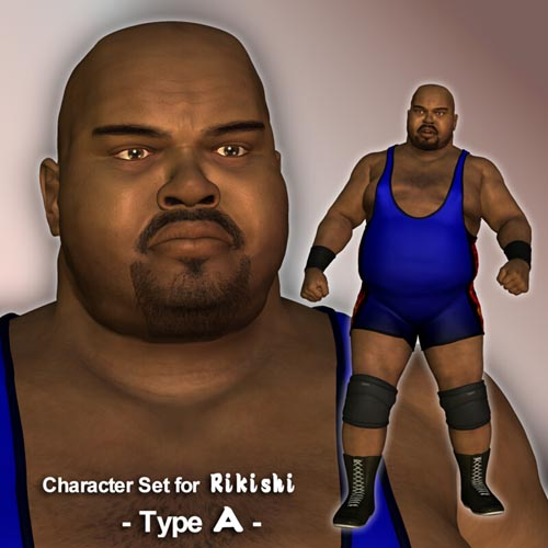 Character Set for Rikishi - Type A