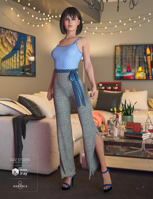 dForce Summer Socialite Outfit for Genesis 8 Female(s)