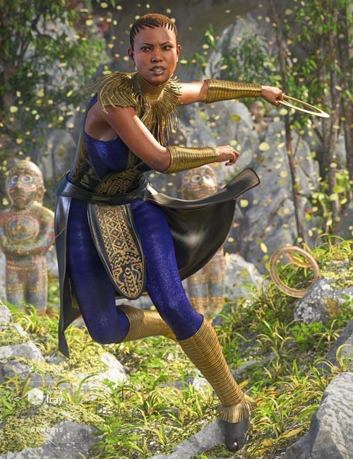 dForce Kakenda Outfit for Genesis 8 Female(s)