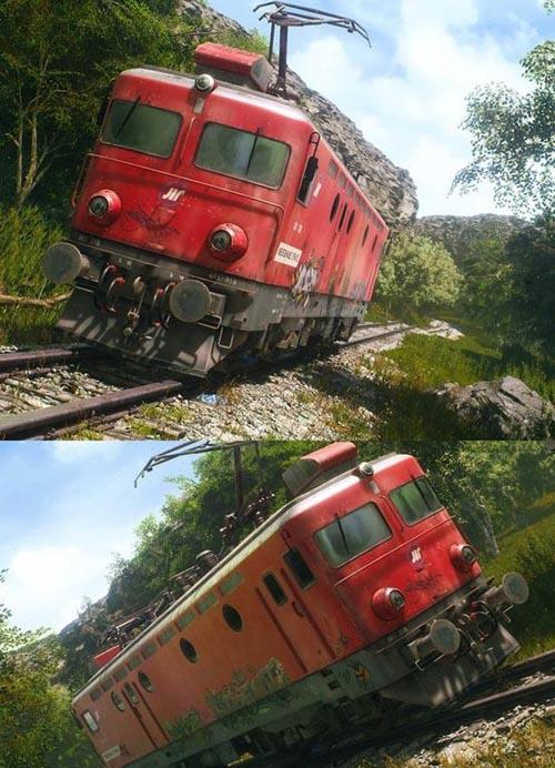 Electric locomotive - model 441-316 [UE4]