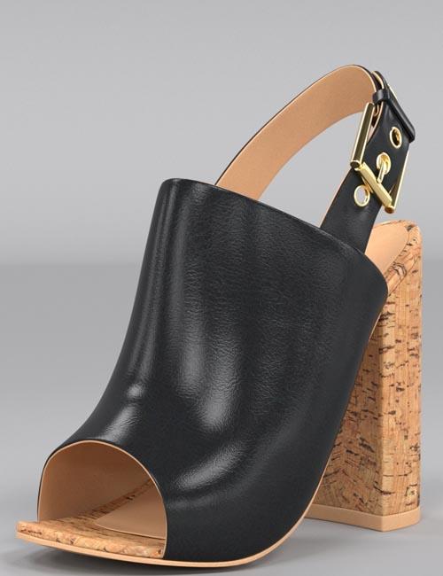 Cork Heels for Genesis 8 Female(s)
