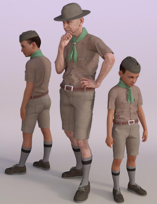 Classic Boy Scout for Genesis 8 Male(s)