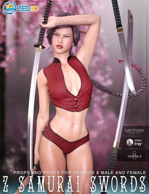 Z Samurai Swords - Props and Poses for Genesis 8