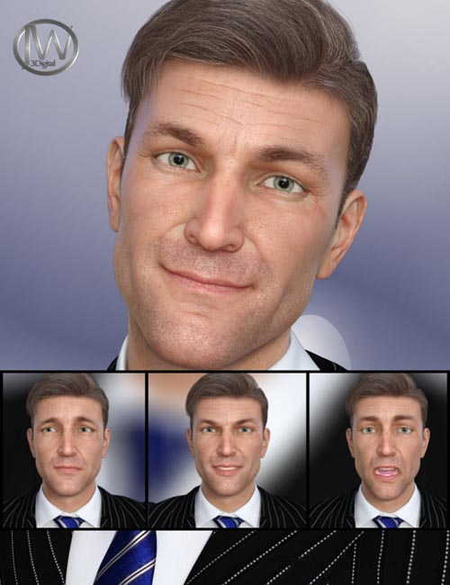 A Gentleman - Expressions for Genesis 8 Male(s) and Edward 8
