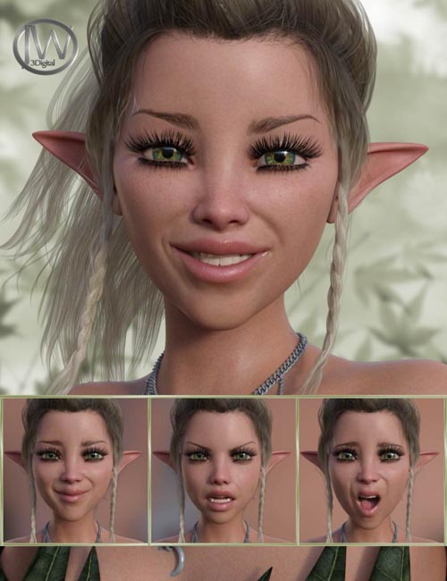 A Nice Fairy - Expressions for Genesis 8 Female and Mika 8
