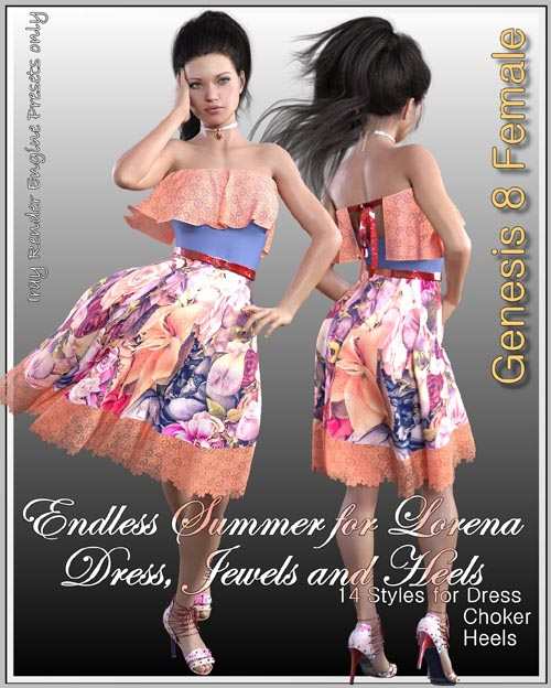 Endless Summer for dForce Lorena Dress and Footwear Outfit