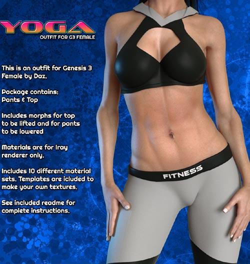 Exnem Yoga Outfit for Genesis 3 Female