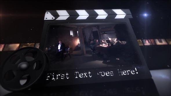 35mm Movie Clapper Cinematic Intro