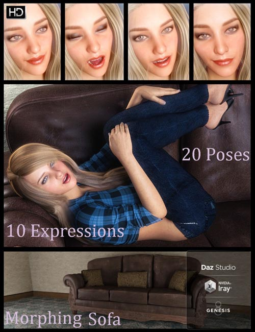 i3D Sensuous Poses and Prop for Genesis 8 Female