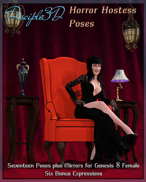 Horror Hostess Poses