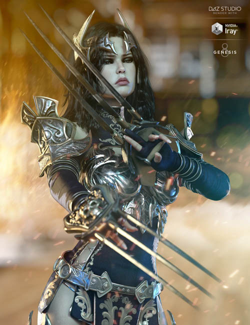 dForce Lilikh Outfit and Weapons for Genesis 8 Female(s)