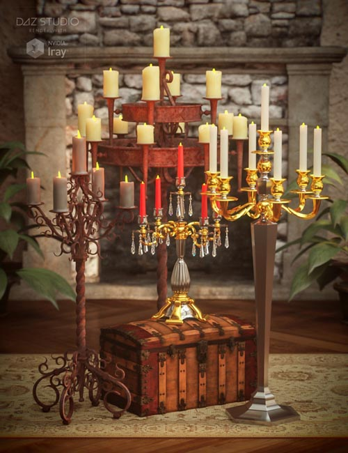 Candelabras with Morphing Candle