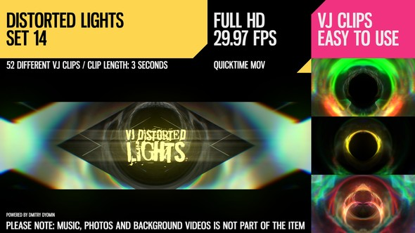 VJ Distorted Lights (Set 14)