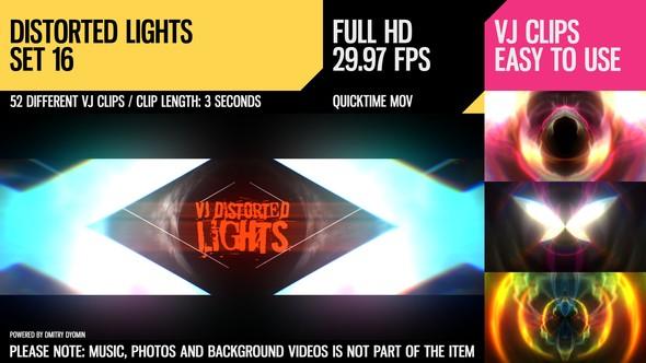 VJ Distorted Lights (Set 16)