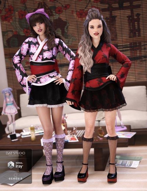 Lolita Kimono Outfit Textures
