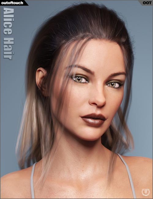 Alice Wet and Dry Hair for Genesis 3 and 8 Female(s)