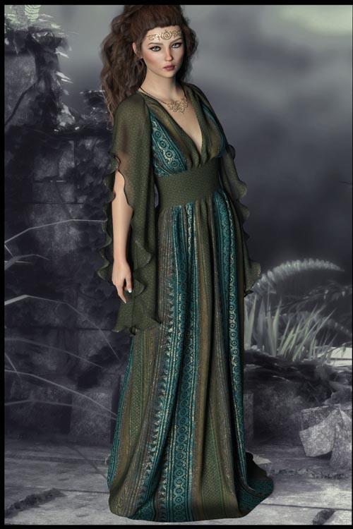 Epic: dForce - Lilium Dress for G8F