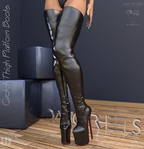 DANGERHEELS - Crotch Thigh Platform Boots