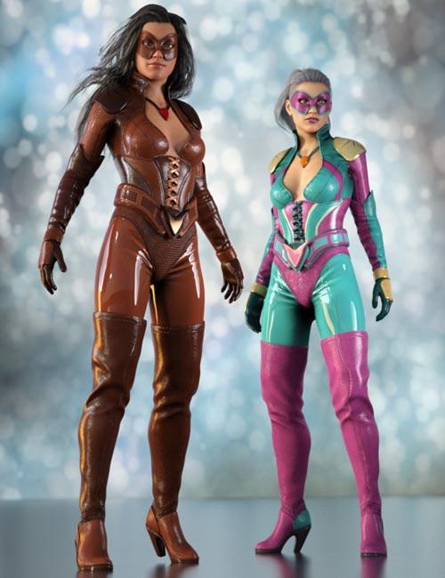 Superhero Sci-fi Suit for Genesis 8 Female(s)