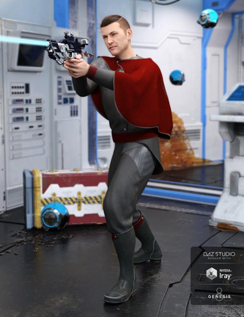 dForce Star Commander Outfit for Genesis 8 Male(s)