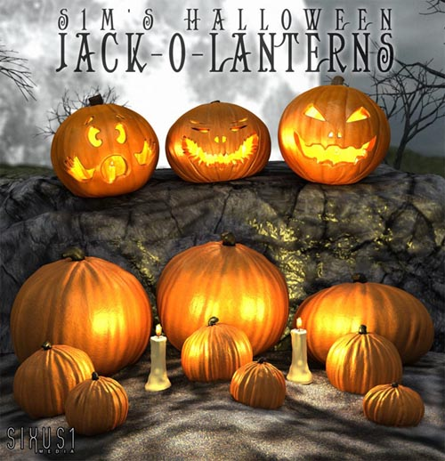 S1M Halloween: Jack-o-lanterns (Pumpkins)