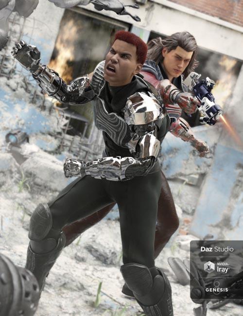 ArcWar Cybernetic Arms for Genesis 8 Male