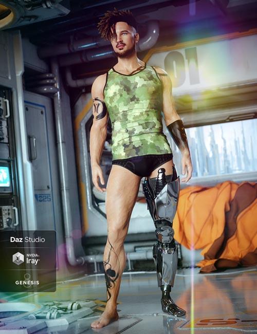 ArcWar Cybernetic Legs for Genesis 8 Male