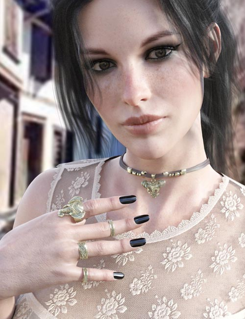 X-Fashion Bohemian Top and Accessories for Genesis 8 Female(s)