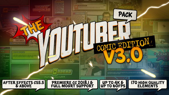 The YouTuber Pack - Comic Edition V3.0