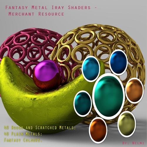 80 Fantasy Metal Iray Shaders - MR