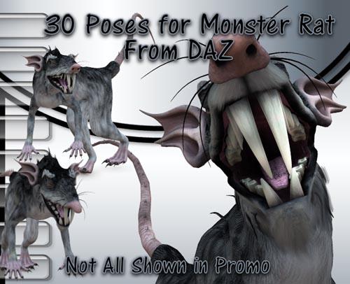 30 Poses for Monster Rat