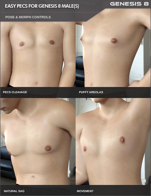 Easy Pecs - Pose And Morph Control For Genesis 8 Males