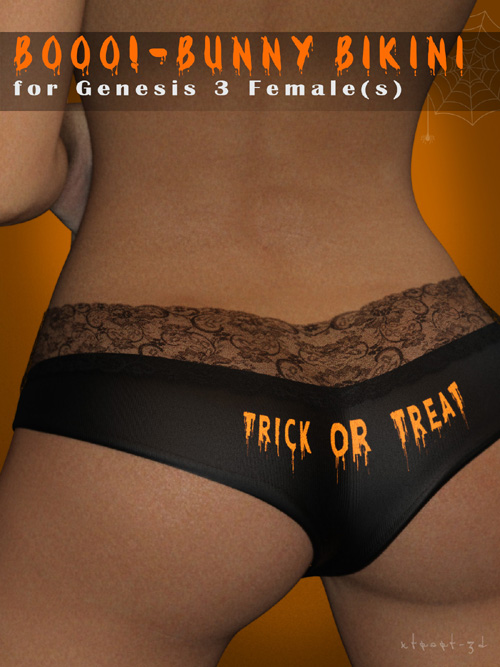 Booo! for Genesis 3 Female Bunny Panties