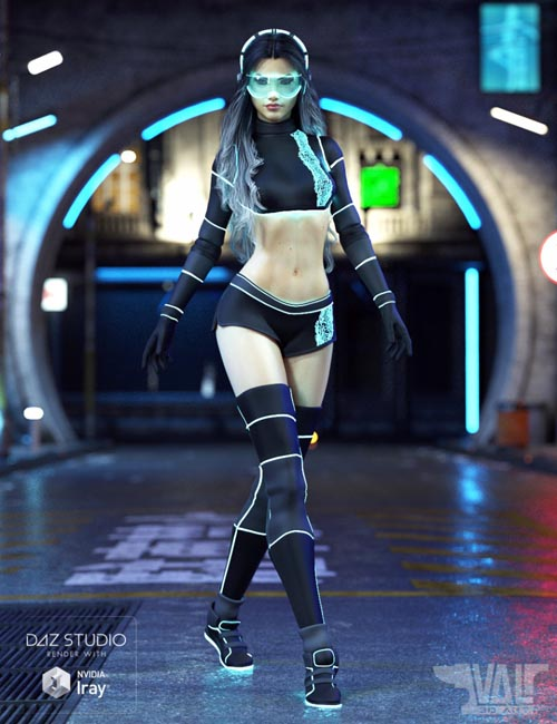 Zari SciFi Outfit for Genesis 8 Female(s)