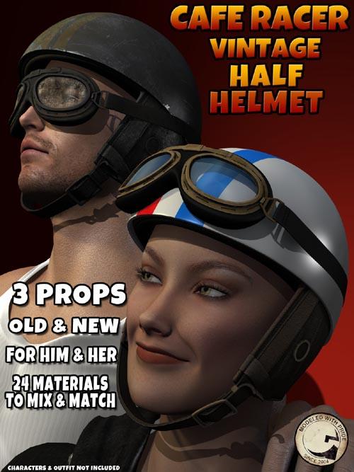 Cafe Racer Half Helmet